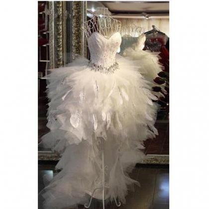 Elegant Hi-lo Wedding Dresses New S..