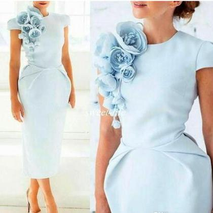 Light Blue Handmade Flowers Formal ..