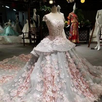 Ball Gown Wedding Dress, Elegant Lu..
