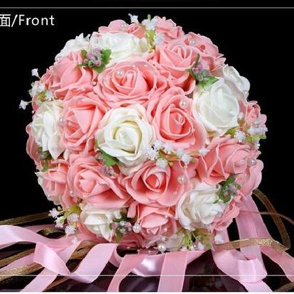 2015 Cheap Wedding Bouquet Pink/Red..