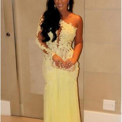 Hot Sale Yellow Prom Dresses 2015 O..