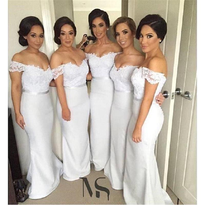 cb606f06c60 Lace Bridesmaid Dresses Off Shoulder Mermaid Long Maid Of Honor Gowns