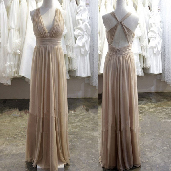 Sexy V Neck Evening Dress,Formal Dress
