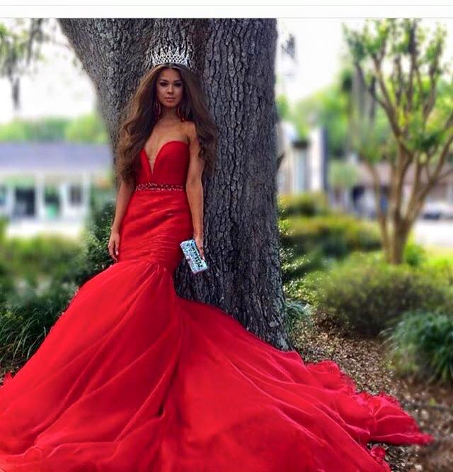 Hot Sale Evening Dresses Sweetheart Beading Red Mermaid Satin Long Train Weddings & Events Formal Gown Robe De Soiree