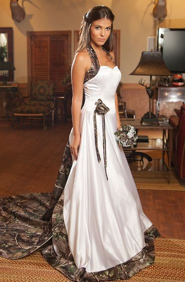 Camouflage Wedding Dresses.Camo Wedding Dresses White Halter Lace Up Vestido De Noiva Custom Made Bridal Gown Wedding Dress