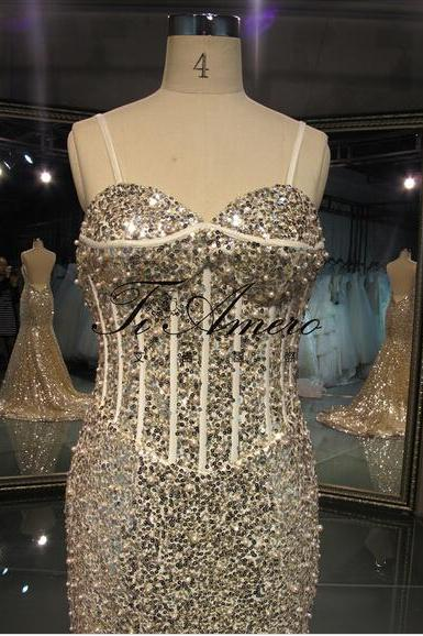 2016 Real Imag Prom Dresses Luxury Bling Sparkle Sexy Mermaid Sweetheart Sequins lace Bead Rhinestones Backless Long Formal Party Evening Dress Gowns