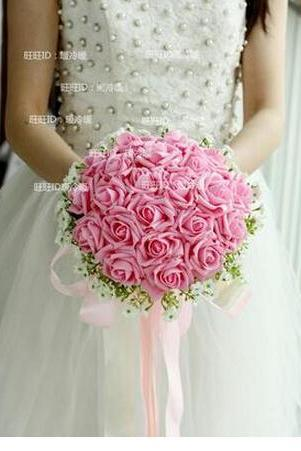 2016 Artificial Bride Hands Holding Red/Pink/Ivory/BluePurpleOrange Rose Flower Wedding Bridal/Bridesmaid Bouquet buque de noiva