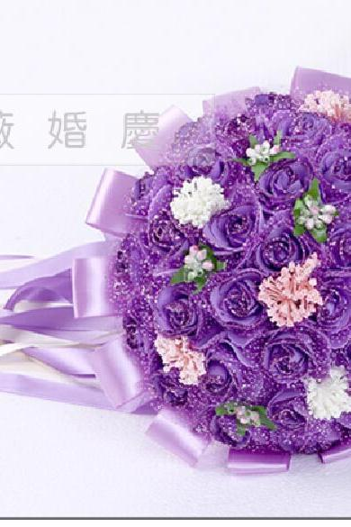 2016 Cheap Wedding Bouquet Bridal Bridesmaid Dark Purple Colorful Artificial Flower Rose Bride Bouquets buque de noiva
