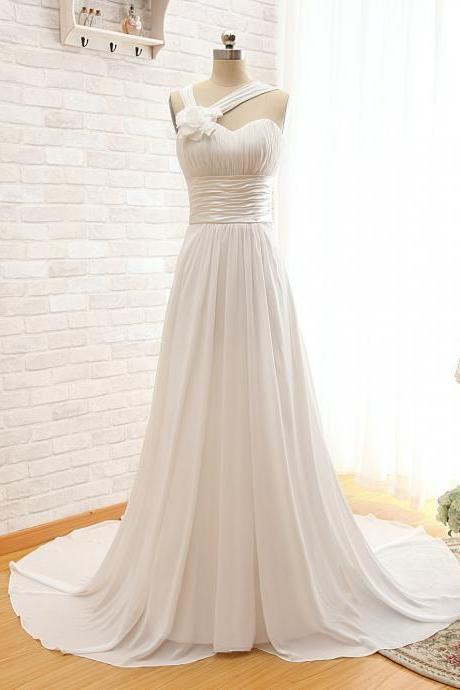 Simple Elegant Bridal Dress Wedding Dress New A-Line Sweetheart Sleeveless Off Shoulder Customize Floor Length Chapel Train Long Lace-Up Wedding Dresses Bridal Gown
