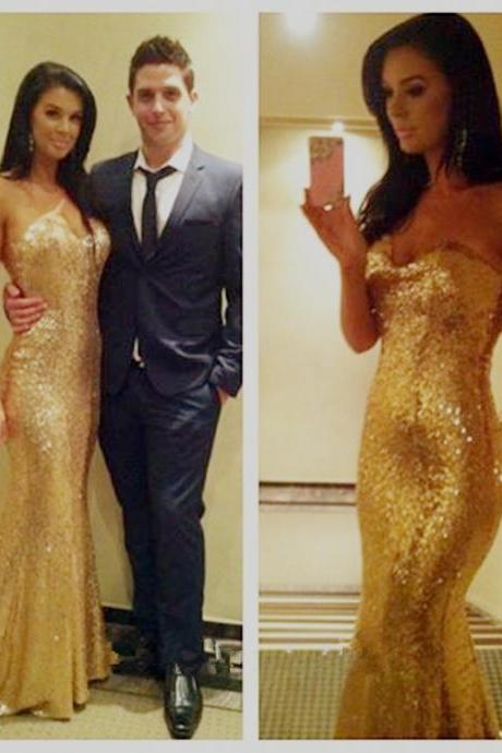 Sexy Mermaid Prom Dresses 2016 Sweetheart Sleeveless Backless Sweep Train 2015 Over Sequin Dress party dress Formal Custom Made
