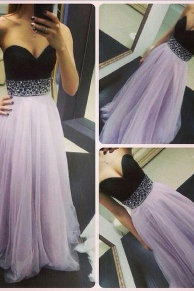 Prom Dresses Black and White Sweetheart Long Evening Dresses Formal Dress Prom Dress Evening Gowns