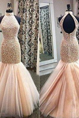 charming Prom Dress,long prom dress,mermaid prom dress,evening dress