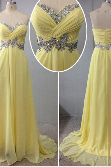 yellow prom Dress,long Prom Dress,charming prom dress,2016 prom dress,party dress
