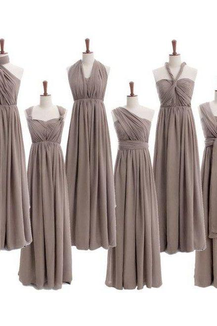 Custom Made Long Chiffon Empire Waistline Evening Dress, Prom Dresses, Bridesmaid Dresses, Bridal Collection