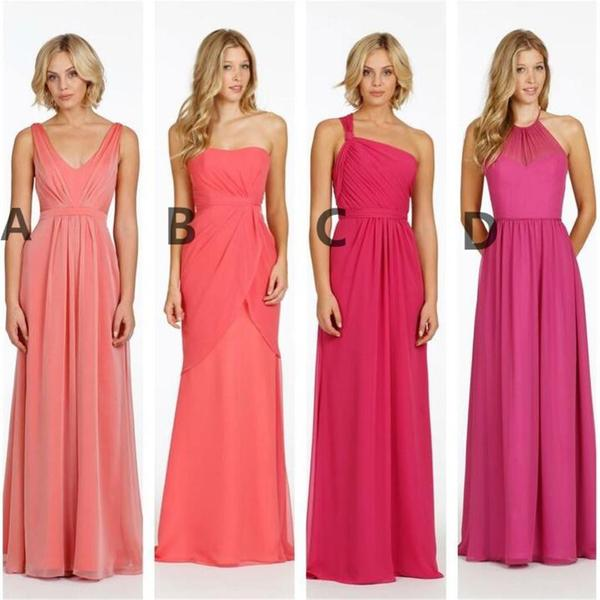 Cheap Different Style and Color Chiffon New Arrival Bridesmaid Dresses