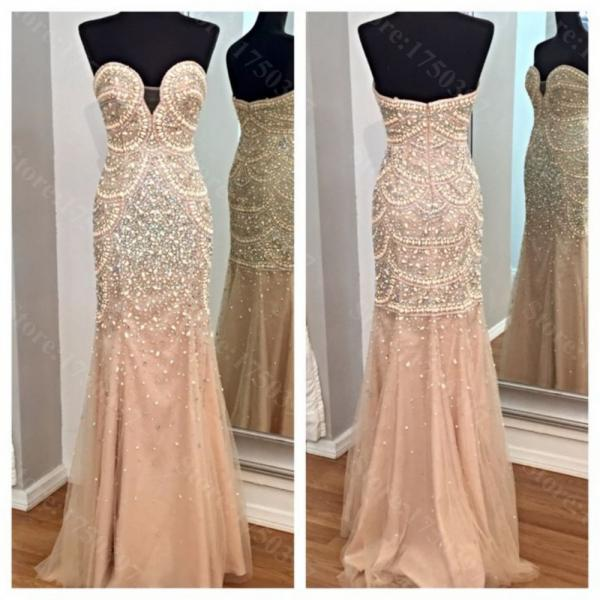 Sexy Real A-line Champange Sweetheart Long Chiffon vestidos Backless long evening dress new arrival formal dresses