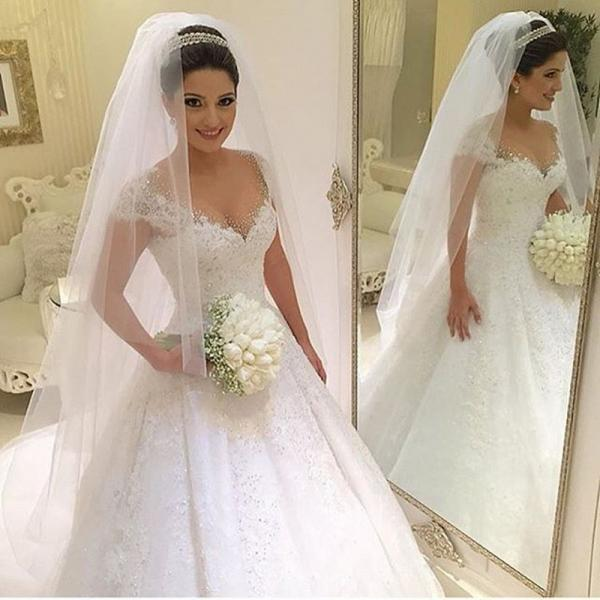 Elegant Bride Bridal Sexy Lace 2 Two Piece Detachable Skirt Wedding Dresses Satin Wedding Gowns vestido de noiva