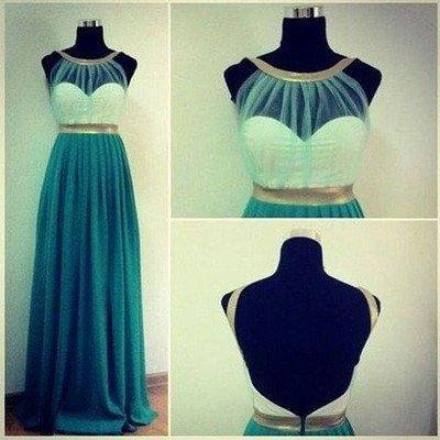 long prom Dress,cheap Prom Dress,blue prom dress, prom dress,evening prom dress