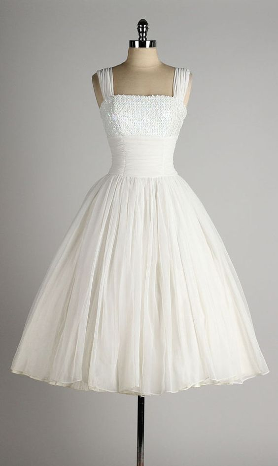 1950S Vintage Ball Gown Wedding Dresses Strapless Lace Mini Short Bridal Gowns